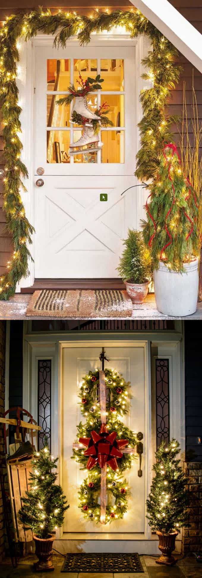 Front Porch Easy Outdoor Christmas Decorating Ideas Novocom Top