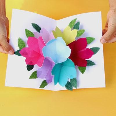 Flower Pop Up Birthday Card Flowers Healthy